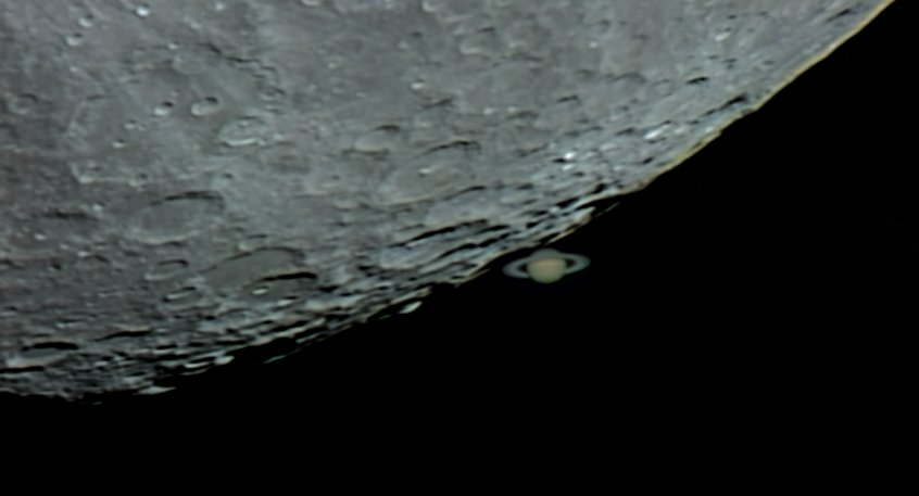 Dave S Astronomy Pictures Saturn Occultation 2 March 2007